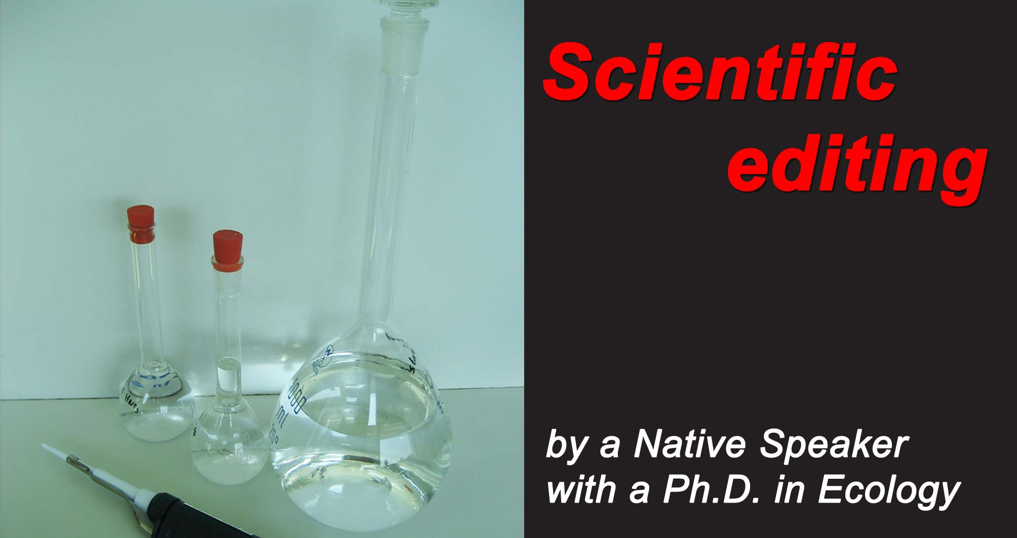 Scientific editing by a Ph.D. in Ecology